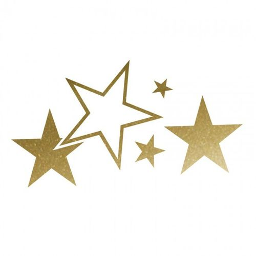 Cardesign Sticker Stars Goud Breedte