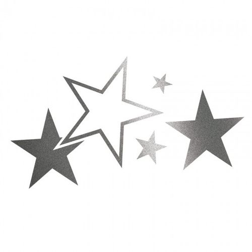 Cardesign Sticker Stars Grafiet