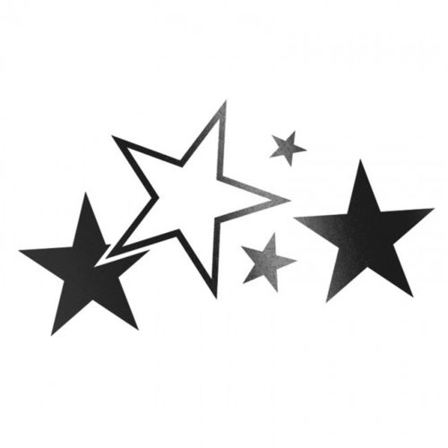 Cardesign Sticker Stars Zwart Mat