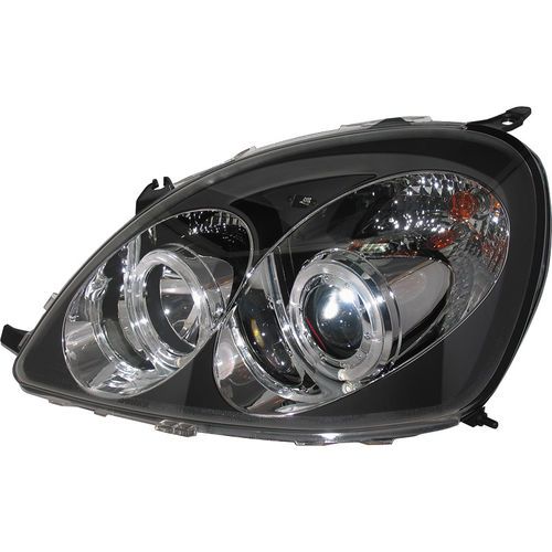 Koplampen Toyota Yaris 1999-2003 Angel Eyes Zwart