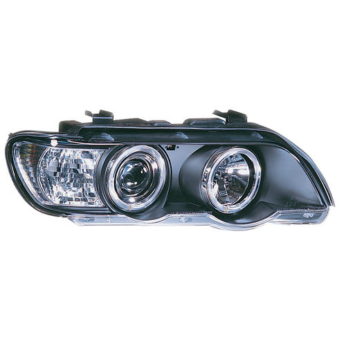 Koplampen BMW X5 E53 2000-2004 Angel Eyes Zwart