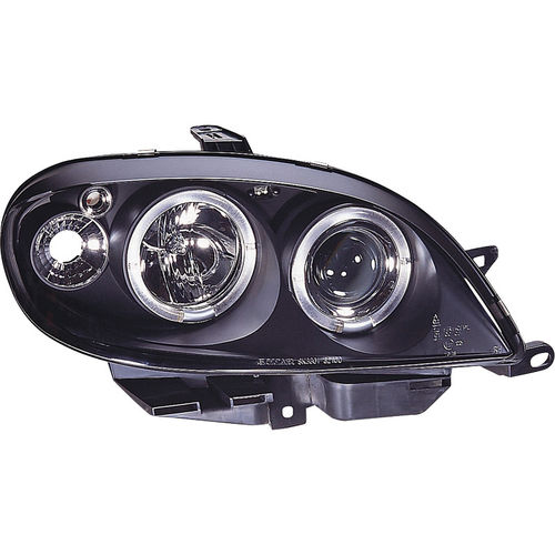 Koplampen Citroën Saxo 2000-2003 Angel Eyes Zwart