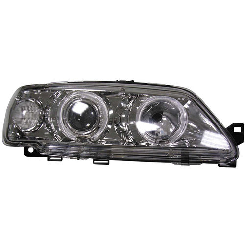 Koplampen Peugeot 306 van 1993-1996 Angel Eyes Chroom