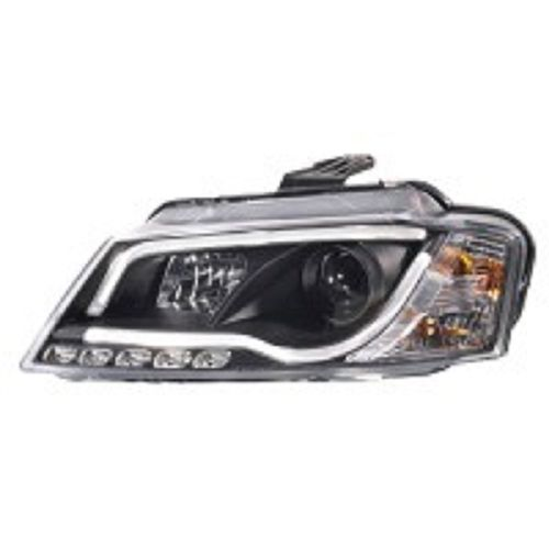 Koplampen Audi A3 2008-2012 incl. DRL 'Light-Bar' Zwart
