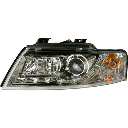 Koplampen Audi A4 B6 Cabrio 2002- Chroom DRL-Look